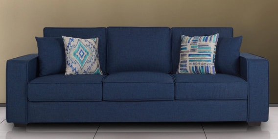 sofa blue color saskia 3 seater 2 set buy oritz three with cushions in teal colour by casacraft online sets sofas pepperfry