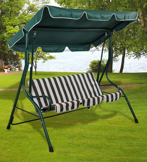 swing chair with stand pepperfry ergonomic urban ladder buy outdoor canopy in green white colour by royal oak online swings hammocks furniture product
