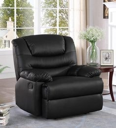 velvet sofa fabric online india wayfair twin sleeper recliner buy chairs sofas in at best prices palmarez one seater manual black colour