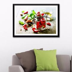 Kitchen Art Prints How Much Is Cabinet Installation Buy Photographic Paper 24 X 16 Inch Chili Pepper Framed Digital Print By Tallenge