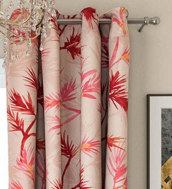 faux silk blackout 5 feet eyelet window curtains set of 2