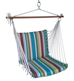 swing chair with stand pepperfry pride lift replacement hand control swings hammocks buy chairs for home online at premium cushioned in ocean stripe