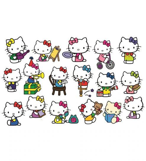 Buy PVC Wall Stickers Cute Hello Kitty