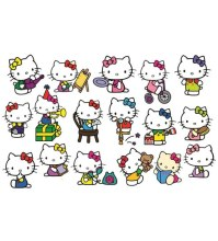 Buy PVC Wall Stickers Cute Hello Kitty - 17 Kitty Stickers ...
