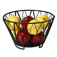 Fruit Basket For Kitchen Modern Lights Buy Qesyas Black Wire Online Baskets