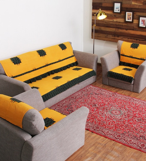 latest design sofa covers brown velvet bed rangdesi designer yellow cotton handcrafted bagh patch 6 piece we are sorry but this item is out of stock
