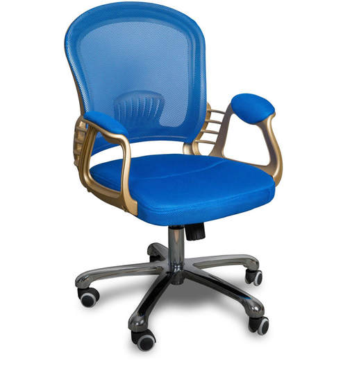 revolving chair repair in jaipur white folding covers buy blue colour by alex daisy online chairs kids furniture pepperfry