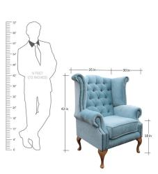 Buy Royal Wing Chair in Blue Color By Dreamzz Furniture