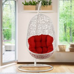Swing Chair With Stand Pepperfry Hunting Blind Buy Scarlet In Black Orange Finish By Hometown