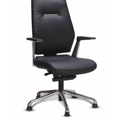 Ergonomic Chair Godrej Price Reupholster Cost Sedna High Back In Black Leather By Interio