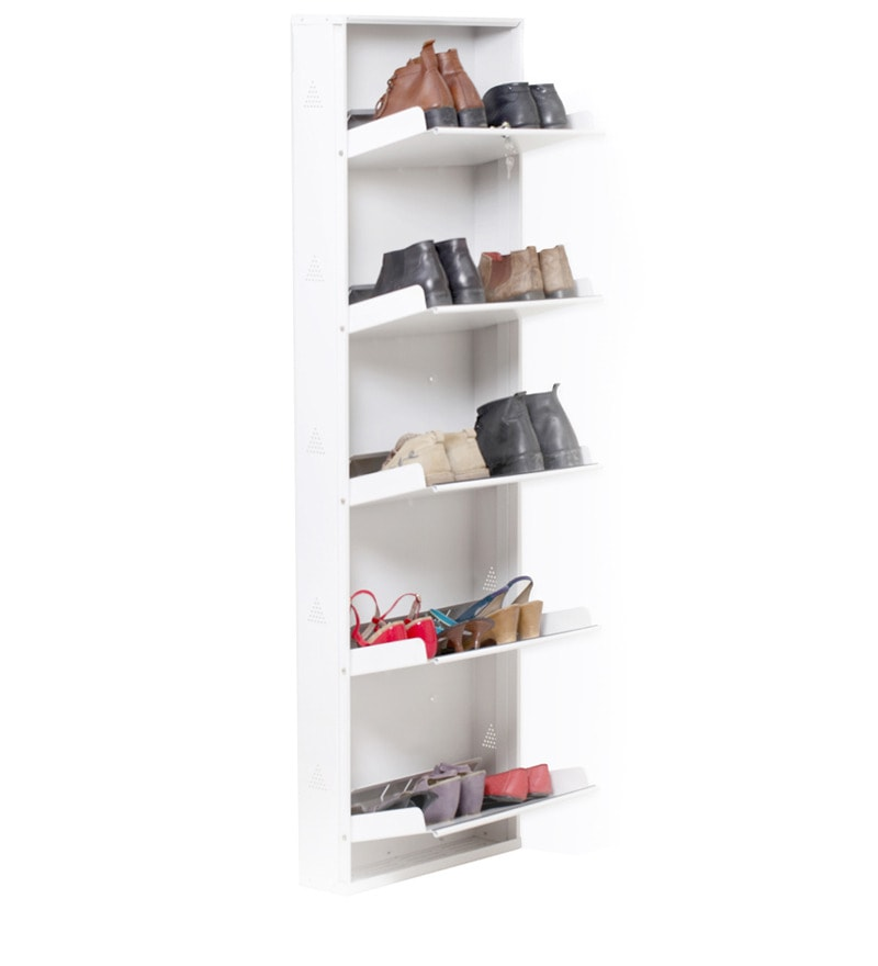 chairs for living room india small with storage ideas space saving wall-mounted five shelf shoe rack in white ...