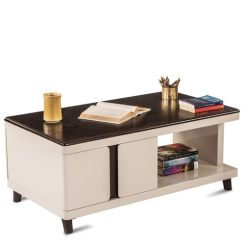 Stella Sofa Table Green Couch Buy Center With Drawers In Off White Colour By Durian Online Modern Coffee Tables Furniture Pepperfry Product