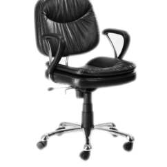 Revolving Chair Mechanism Used Air Office In Black Brown Pu Finish By Stellar Online