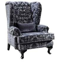 Buy Stylish Button Design Single Seater Sofa in Fabric by