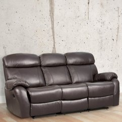 Leather Sofa Designs For Living Room India Small Apartment Interior Design Buy Three Seater Half With 2 Manual Recliners In Brown Colour By Star Online Furniture Pepperfry