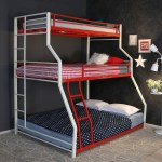 Buy Abigail Triple Metal Bunk Bed By Steelfurn Online Standard Bunk Beds Bunk Beds Kids Furniture Pepperfry Product