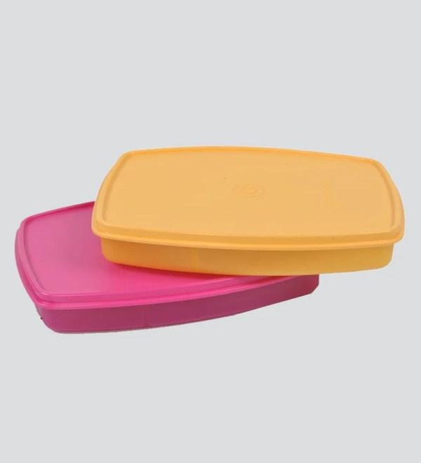 Tupperware Plastic Classic Slim Lunch Small - Set Of 2