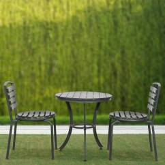 Two Seater Garden Table And Chairs Swivel Chair Platform Buy Reno Outdoor Set In Black Colour By Parin