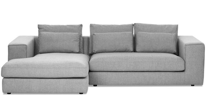 Grey L Shaped Sofa Milano Grey Fabric L Shape Sofa TheSofa