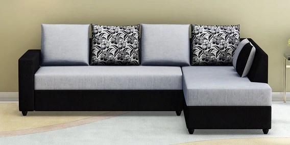 victoria lhs sofa in grey black colour
