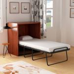 Buy Wallee Cabinet Hide Away Foldable Space Saver Single Bed With Free Mattress By Camabeds Online Modern Single Beds Beds Furniture Pepperfry Product