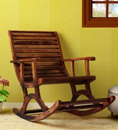 rocking chair with footstool india christopher knight chairs online buy wooden in at best wellesley solid wood provincial teak finish