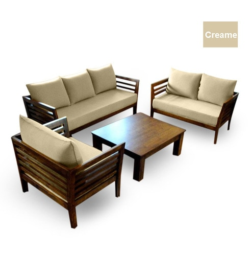 living room wooden sofa furniture rooms with gray walls and brown set 3 2 1 seater coffee table by furny online we are sorry but this item is out of stock