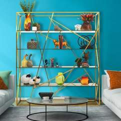 Office Chair Yangon Revolving Base Online Buy Metallic Bookshelf In Brass Finish With Glass Shelves By Bent Eclectic Book Pepperfry