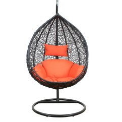 Swing Chair With Stand Pepperfry Sit Uk Buy Glober Orange Cushion By Royal Oak Online Click To Zoom In Out Explore More From Furniture