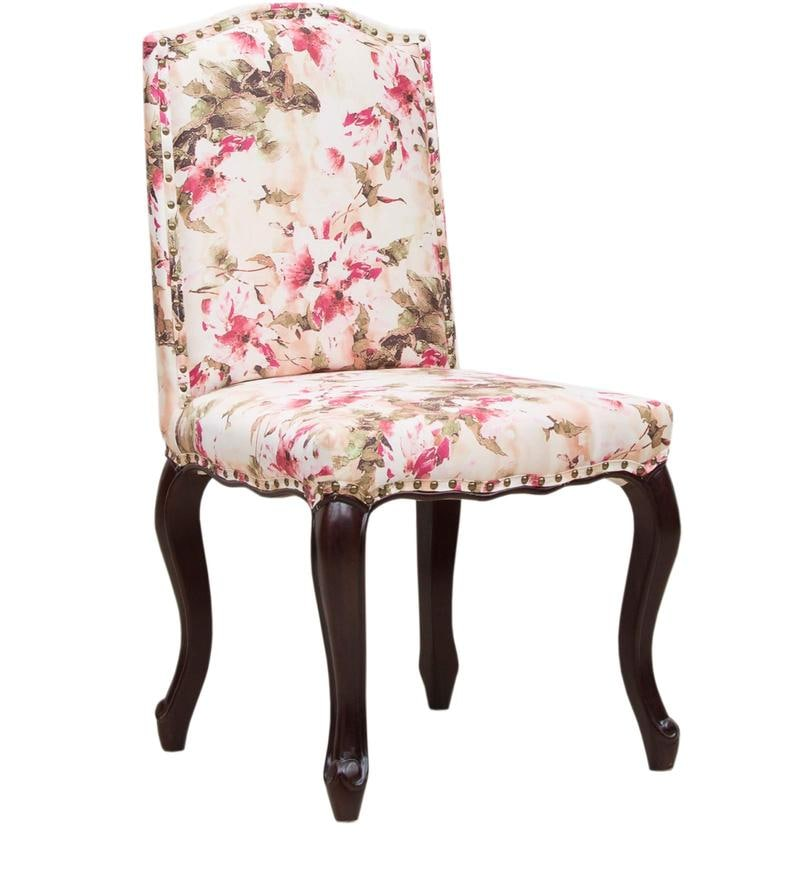 folding arm chair futon covers buy lorraine dining in salmon pink floral print by amberville online - colonial ...