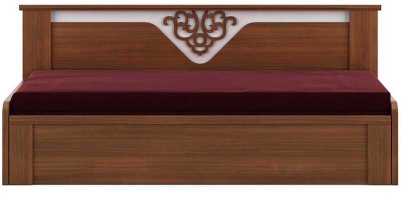 most durable sofa brands kroehler and loveseat buy kosmo ornate cum bed with storage in walnut ...