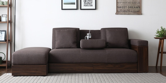 living room furniture sofas in chennai vintage style sofa cum beds buy online india at best prices luana storage bed with ottoman dark brown color