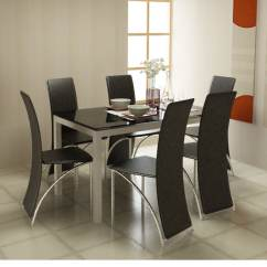 Mid Range Kitchen Cabinets Home Depot Floor Tiles Midnight Dining Table With Black Glass Top By Godrej ...