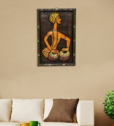 best granite colors for living room india paint behr wall hanging buy hangings online in at prices multicolour wood fibre tribal musician