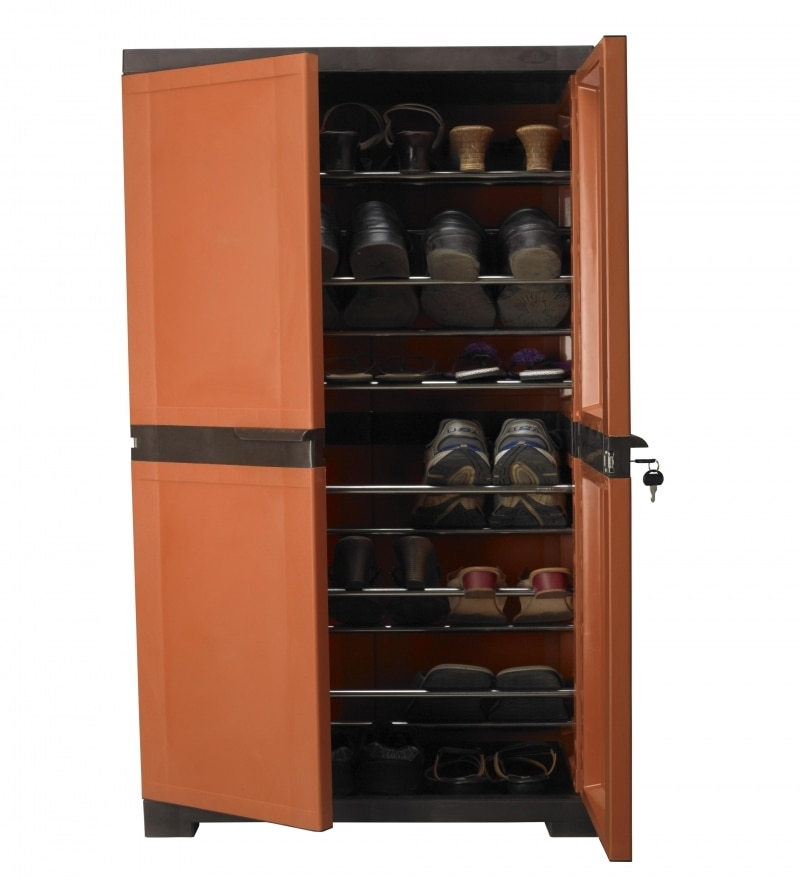 Nilkamal Freedom Shoe Cabinet Weather Brown And Rust By