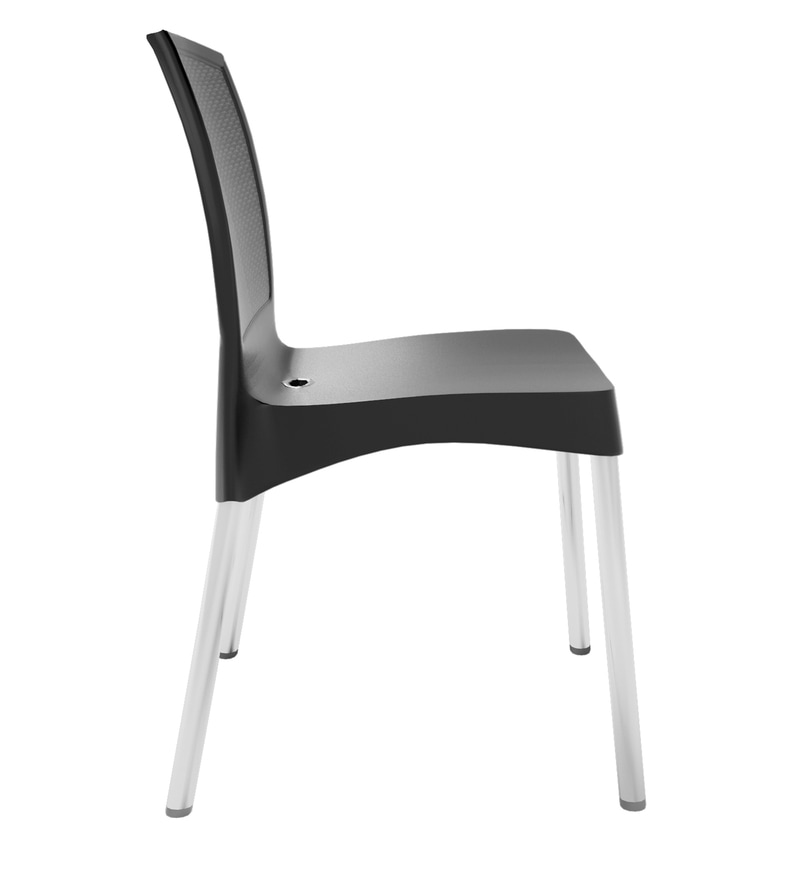 plastic chairs with stainless steel legs svan signet complete high chair buy novella 17 dining in iron black colour click to zoom out explore more from furniture