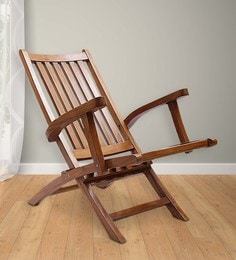 folding wooden chairs rolling office chair with brakes buy online in india at best omak teak wood natural finish