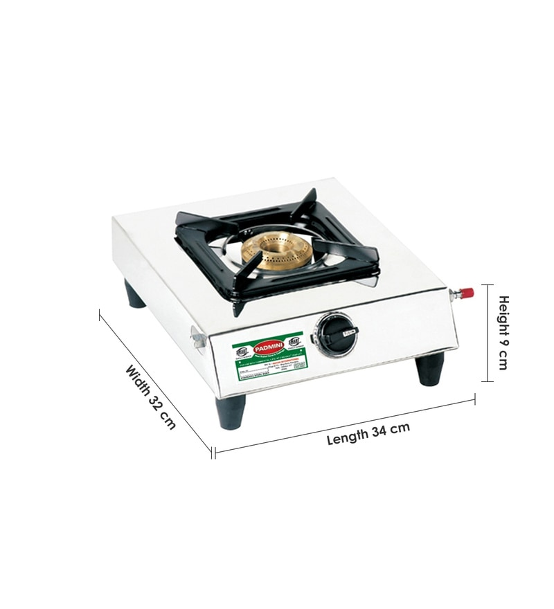 Buy Padmini 1 burner Brass Burners Manual Stainless steel