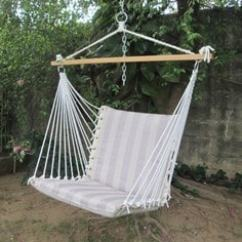 Swing Chair Hyderabad Childrens Wooden Table And Chairs Swings Hammocks Buy For Home Online At Premium Cushioned In Tan Stripe