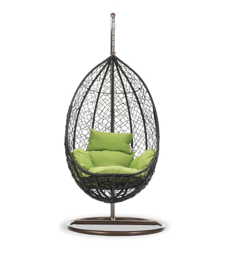 swing chair with stand pepperfry french print accent buy snow and cushion by durian online swings click to zoom in out explore more from furniture