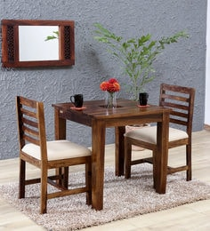 two seater dining table and chairs india corbusier lounge chair set buy sets online at best price in stigen solid wood provincial teak finish