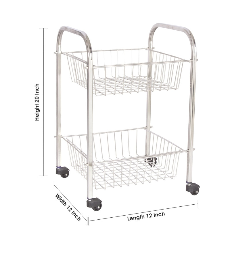stainless steel kitchen cart 27 inch sink buy amol trolley online racks click to zoom in out