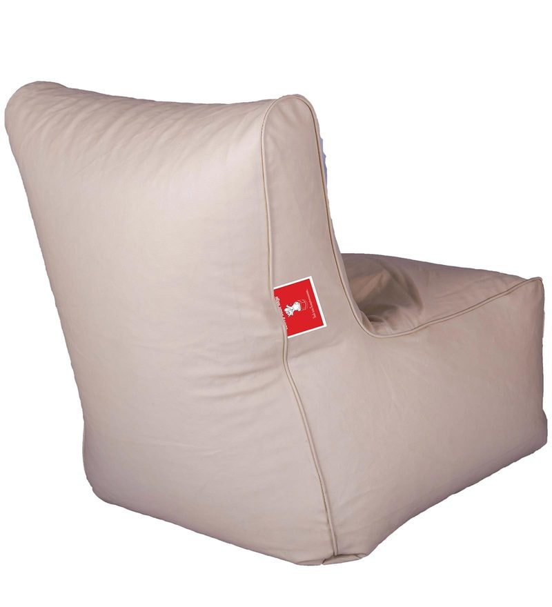 Buy Bean Bag Chair with Beans in Cream Colour by Comfy