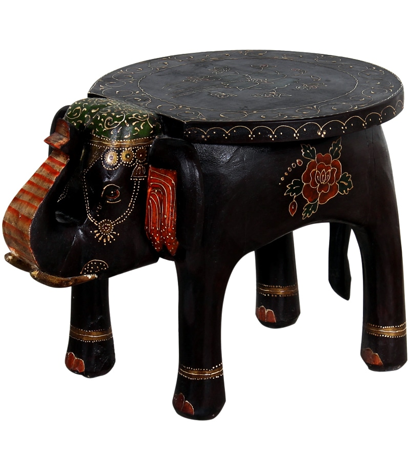 Buy Bhargava Solid Wood Hand Painted End Cum Coffee Table