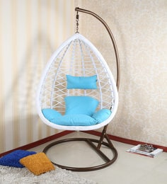 swing chair with stand pepperfry wooden chairs: buy garden hanging chairs online at best prices -