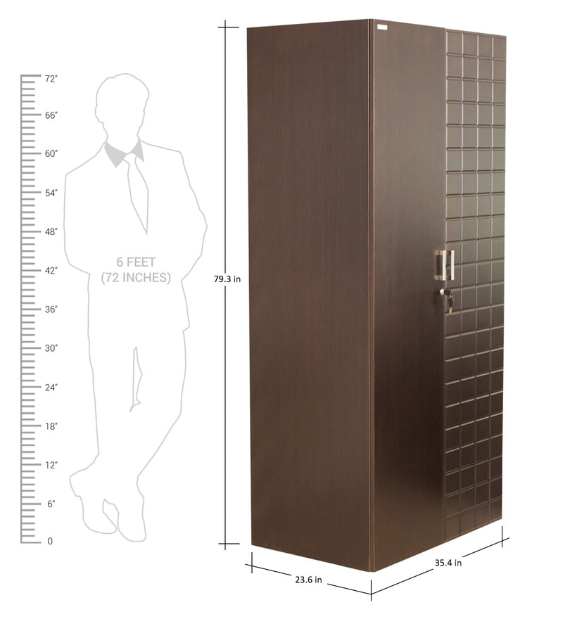 Buy Chocolate Two Door Wardrobe in Brown Colour by Godrej