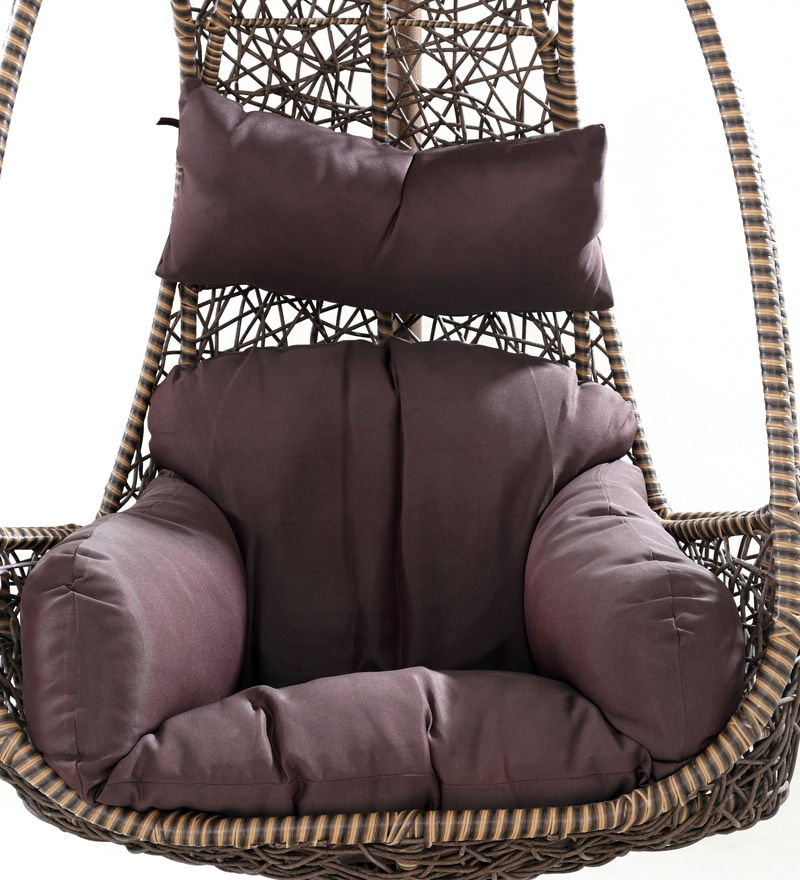 swing chair with stand pepperfry lifeform office buy elegent in brown colour by looking good furniture online click to zoom out explore more from