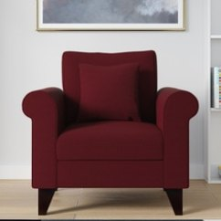 Leather Red Sofa Large Sectional Sofas Big Lots Buy Online At Best Price In India Pepperfry Fuego One Seater Garnet Colour