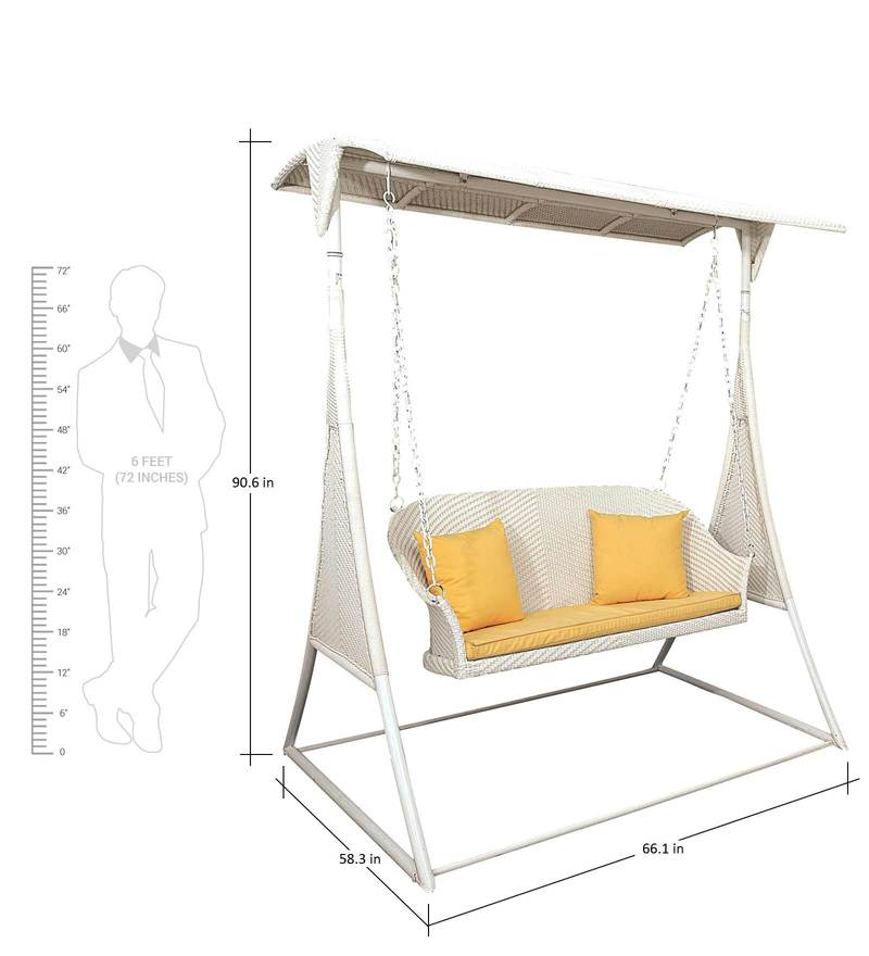 swing chair with stand pepperfry walmart kids table and chairs buy luxury two seater by loom crafts online swings click to zoom in out explore more from furniture