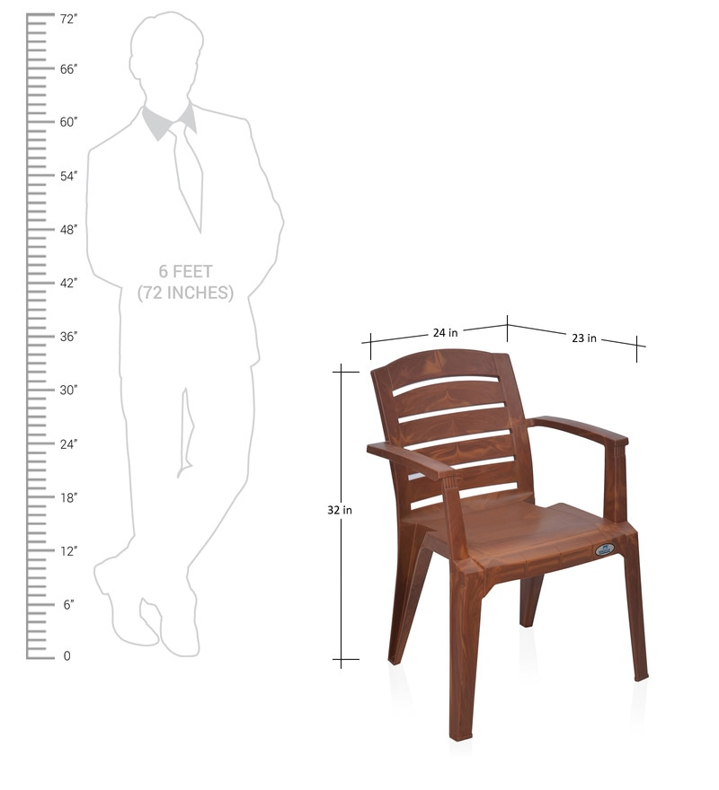 ergonomic chair best buy covers wingback passion garden in mango wood colour by nilkamal online - plastic chairs ...